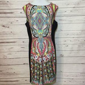 Sandra Darren Boho Patterned Stretch Sheath Dress